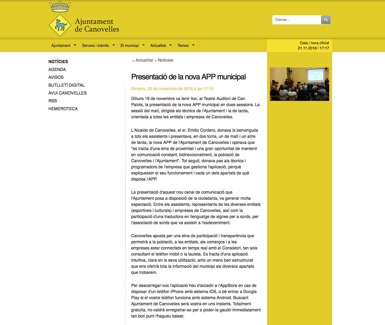 Presentación de la nueva APP municipal
